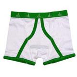 Boxer per uomo bianchi e verdi White Box